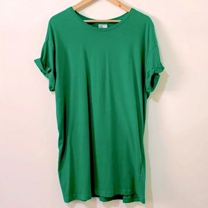 H&M Basic Green Crewneck Cuffed T-Shirt Size Large